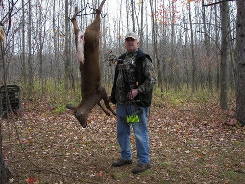 Harvested Whitetail Deer