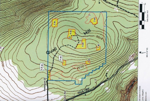 Mapped Out Plan for a Whitetail Deer Food Plot